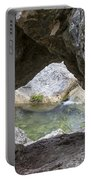 Rock Window Portable Battery Charger by David Morefield