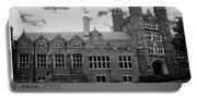 Rockefeller Hall - Bryn Mawr In Black And White Portable Battery Charger