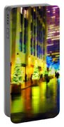 Rockefeller Center Christmas Trees - Holiday And Christmas Card Portable Battery Charger