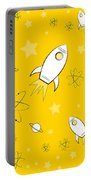 Rocket Science Yellow Portable Battery Charger