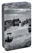 Rockport Harbor View - Bw Portable Battery Charger