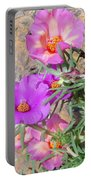 Rocks And Roses Portable Battery Charger