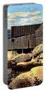 Rocks At Bay In Nova Scotia Portable Battery Charger