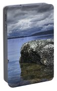 Rocks In The Water On A Lake In Acadia National Park Portable Battery Charger