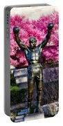 Rocky Among The Cherry Blossoms Portable Battery Charger