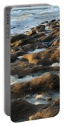 Rocky Beach At Sunrise Portable Battery Charger