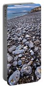 Rocky Beach Normandy France Portable Battery Charger