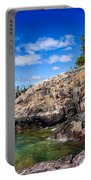 Rocky Coast And Clear Water Of Lake Superior Portable Battery Charger