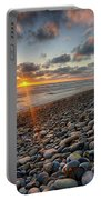 Rocky Coast Sunset Portable Battery Charger