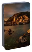 Rocky Coastline At Sunset, Point Portable Battery Charger