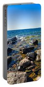 Rocky Cove At Lake Superior North Shore Portable Battery Charger
