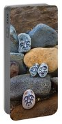 Rocky Faces In The Sand Portable Battery Charger