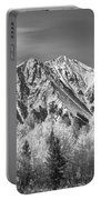 Rocky Mountain Autumn High In Black And White Portable Battery Charger