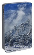 Rocky Mountain Dusting Of Snow Boulder Colorado Portable Battery Charger