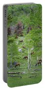Rocky Mountain Elk Herd Portable Battery Charger