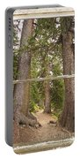 Rocky Mountain Forest Window View Portable Battery Charger