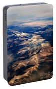 Rocky Mountain Peaks From Above Portable Battery Charger