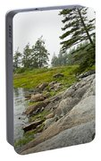 Rocky Shore By The Narrows To Mount Desert Island Portable Battery Charger