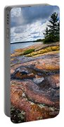 Rocky Shore Of Georgian Bay Portable Battery Charger