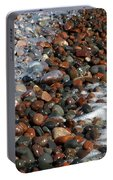Rocky Shoreline Abstract Portable Battery Charger