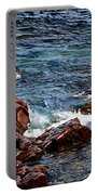 Rocky Shoreline - Coast -  Painterly Effects -  Panorama Portable Battery Charger