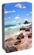Rocky Shoreline Portable Battery Charger