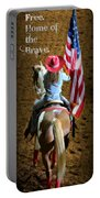 Rodeo America - Land Of The Free Portable Battery Charger