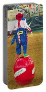 Rodeo Barrel Clown Portable Battery Charger