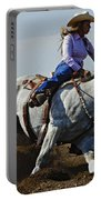 Rodeo Barrel Racer Portable Battery Charger