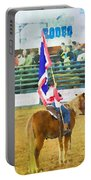 Rodeo Flag Portable Battery Charger