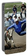 Rodeo Steer Wrestling Portable Battery Charger