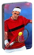 Roger Federer The Swiss Maestro Portable Battery Charger