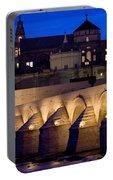 Roman Bridge And Mezquita In Cordoba At Dawn Portable Battery Charger