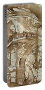 Roman Prison Portable Battery Charger by Giovanni Battista Piranesi