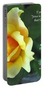 Romans Yellow Rose Portable Battery Charger