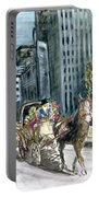 New York 5th Avenue Ride - Fine Art Portable Battery Charger