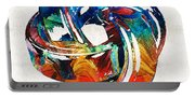 Romantic Love Art - The Love Knot - By Sharon Cummings Portable Battery Charger