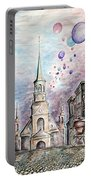 Romantic Montreal Canada - Watercolor Pencil Portable Battery Charger