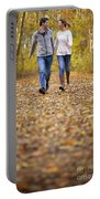 Romantic Woodland Walk In Autumn Portable Battery Charger