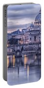 Rome And The River Tiber At Dusk Portable Battery Charger