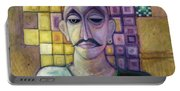 Romeo, 1970 Acrylic & Metal Leaf On Canvas Portable Battery Charger