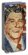 Ronald Wilson Reagan Mosaic Portable Battery Charger