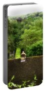 Roof Tops In Countryside Scenery With Trees - Peak District - England Portable Battery Charger