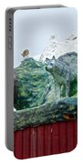 Rooftop Landmark Feature Of Haines Junction-yk Portable Battery Charger