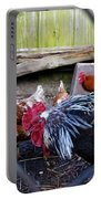 Rooster And Chickens Portable Battery Charger