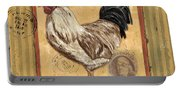 Rooster And Stripes Portable Battery Charger