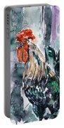 Rooster  Portable Battery Charger by Zaira Dzhaubaeva