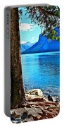 Rooted In Lake Minnewanka Portable Battery Charger