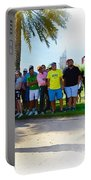Rory Mcilroy - The Third Round Of The Omega Dubai Desert Classic Portable Battery Charger