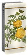 Rosa Sulfurea -yellow Rose  Square Portable Battery Charger
